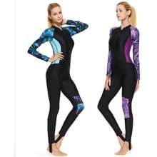 0d356e610c5 Sbart Lycra Wetsuit Women One-piece Long Sleeve Rashguard Swim Suit for  Swimming Diving Surfing