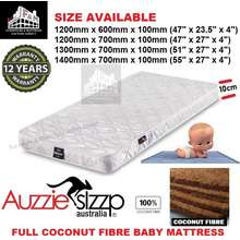 Aussie Sleep Full Coconut Fibre Baby Mattress / Baby Cot Mattress / Baby Tilam (4 Sizes Available)