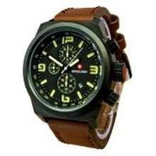 Swiss Army - Jam Tangan Kasual Pria - Leather Strap - SA2971DB