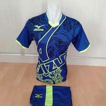 Mizuno setelan olahraga kaos bola jersey futsal baju volly biru 6901219b4f