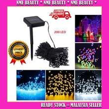 >Ready Stock< 200 Led, 22 Meters Solar String Lights, Fairy Christmas Lights,Decorative Lampu Raya