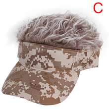 Amango Men Women Golf Cap Camo With Fake Flair Hair Sunshade Hat Adjustable Headwear