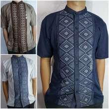 T Zone S/M/L/Xl-Baju Koko Lengan Pendek// Baju Muslim/Bordir/3 Warna