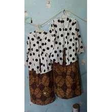 set kebaya anak /stelan kebaya anak / set kebaya&rok/ pakaian tradisional anak (Int: One size, putih)