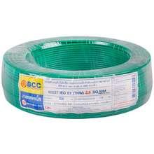 BCC สายไฟ THW IEC01 1x2.5 ตร.มม. สีเขียว ไทย