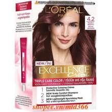 L'Oréal L'Oréal Màu Nhuộm Dưỡng Tóc Phủ Bạc Paris Excellence Crème 172ml 4.2 Nâu Ánh Tím