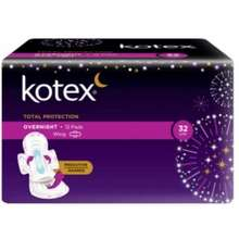 Kotex Kotex Total Protection Overnight Wing 32cm 12s