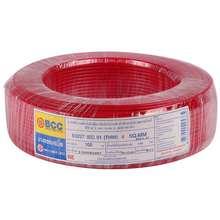 BCC สายไฟ THW IEC01 1x4 ตร.มม. สีแดง ไทย