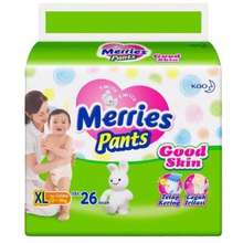 Merries Pants Good Skin Popok Size XL XL 26 Indonesia