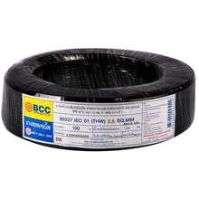 BCC สายไฟ THW IEC01 1x2.5 ตร.มม. สีดำ ไทย
