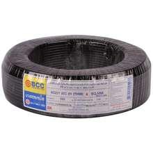 BCC สายไฟ THW IEC01 1x4 ตร.มม. สีดำ ไทย