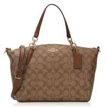 Coach Small Kelsey Satchel In Signature Canvas Malaysia